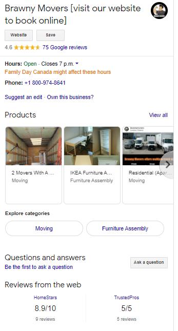 brawny movers google reviews